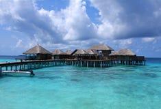 De toevlucht van de Maldiven Stock Afbeelding