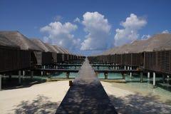 De toevlucht van de Maldiven Stock Afbeeldingen