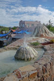 De Toevlucht van de Pagosalentes en Kuuroord en minerale stortingen. stock fotografie