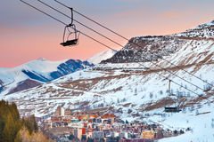 De toevlucht van de ski in Franse Alpen Royalty-vrije Stock Afbeelding