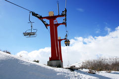 De toevlucht van de ski - Mavrovo, Macedonië Stock Fotografie