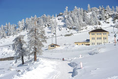 De toevlucht van de ski in Turkije Stock Afbeelding