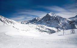 De toevlucht van de ski in Zwitserland, Alpen Royalty-vrije Stock Afbeeldingen