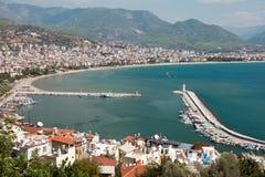 De toevlucht van het de kuststrand van het oosten van Turkije Alanya Royalty-vrije Stock Fotografie
