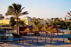De toevlucht van het hotel in Egypte Royalty-vrije Stock Foto's