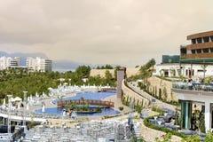 De toevlucht van het luxehotel in Bodrum, Turkije Stock Afbeeldingen