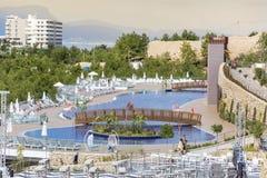 De toevlucht van het luxehotel in Bodrum, Turkije Stock Afbeelding