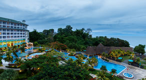 De toevlucht van het luxestrand in Panama Stock Foto