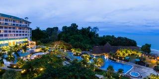 De toevlucht van het luxestrand in Panama Royalty-vrije Stock Foto's