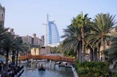 De Toevlucht van Jumeirah van Madinat in Doubai Royalty-vrije Stock Foto's