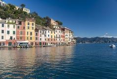 De Toevlucht van de Portofinotoerist van Ligurian Riviera Stock Afbeelding