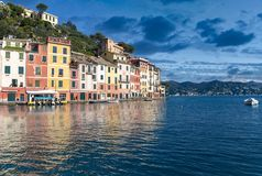 De Toevlucht van de Portofinotoerist van Ligurian Riviera Royalty-vrije Stock Fotografie