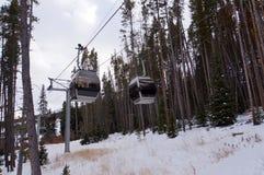 De toevluchtgondel van de ski Royalty-vrije Stock Fotografie