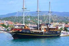 De toevluchthaven Griekenland van het cruiseschip Royalty-vrije Stock Foto