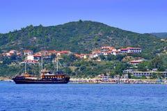 De toevluchthaven Griekenland van het cruiseschip Royalty-vrije Stock Afbeeldingen