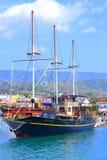 De toevluchthaven Griekenland van het cruiseschip Stock Foto