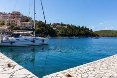 De toevluchthaven van de SIvotatoerist in Griekenland Stock Foto