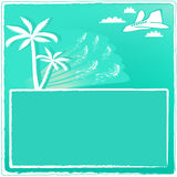De toevluchtkaart van de zomer Royalty-vrije Stock Foto's