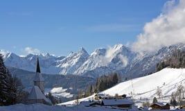 De toevluchtstad van de winter Stock Afbeeldingen