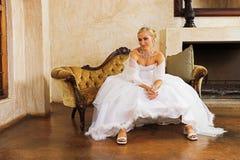 De toga van het huwelijk Stock Foto