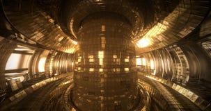 De Tokamak van de fusiereactor Reactiekamer Fusiemacht Naadloze Hoge lijn 4k - kwaliteits realistische animatie stock footage