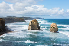 De tolv apostlarna, port Campbell National Park, Victoria, Australien Arkivbild