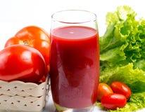 De tomaat Juice Drink Indicates Refreshing Refreshment en verfrist zich stock afbeelding