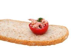 De tomaat van Coctail met garnalen Royalty-vrije Stock Fotografie