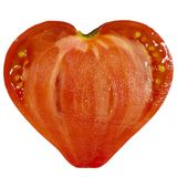 De tomaat van de hartvorm Stock Afbeelding