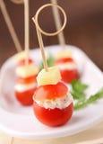 De tomaat van de kers met kaas royalty-vrije stock foto