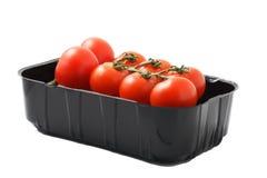 De tomaat van de kers in verpakking Royalty-vrije Stock Afbeeldingen