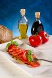 De tomaat van de plak stock fotografie