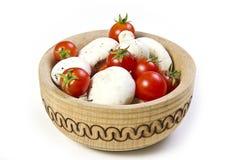 De tomaat van paddestoelen Stock Foto