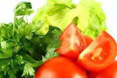 De tomaat van Salat Stock Afbeeldingen