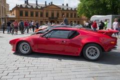 De Tomaso Pantera GTS at the parade of sports cars in Turku, Finland Royalty Free Stock Photo