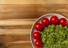 De tomaten en de salade van de kers Royalty-vrije Stock Afbeelding
