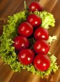 De tomaten en de sla van de kers Stock Foto
