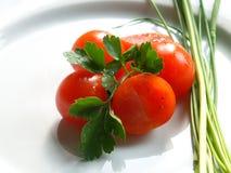De tomaten van de kers Stock Afbeeldingen