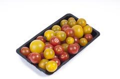 De Tomaten van de kers op Wit Royalty-vrije Stock Afbeelding