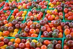 De Tomaten van de Kers van het erfgoed (hori Stock Afbeeldingen