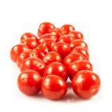 De tomaten van de kers. verse tomaten op witte achtergrond. rode tomaat Royalty-vrije Stock Foto's