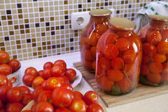 De tomaten van groenten in het zuur Stock Fotografie