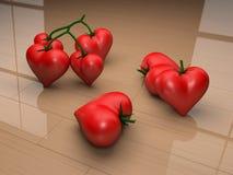 De tomaten van het hart Stock Afbeeldingen