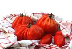 De tomaten van Oxheart en van het schietlood Royalty-vrije Stock Fotografie