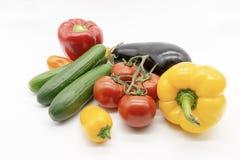 De tomatenaubergine van de paprikakomkommer royalty-vrije stock afbeelding