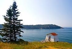 De toneel kustlijn van Maine Stock Afbeeldingen