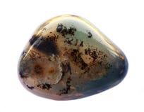 De toneel Vertakte minerale Halfedelsteen van Agaatmadagascar Glanzend, gelaagd stock foto