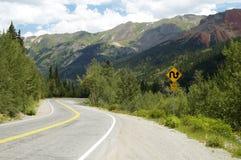 De toneel Weg van de Berg Stock Foto's