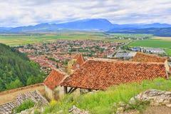 De toneelmening Transsylvanië Roemenië van de Rasnovcitadel Royalty-vrije Stock Foto