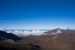 De ToneelMening van de Krater van de Vulkaan van Haleakala Stock Afbeeldingen